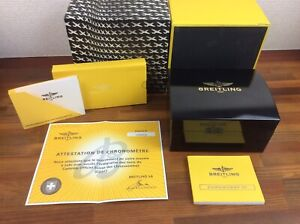 Breitling Chronomat 01 Watch Box + Booklet and Certificate + FREE SHIPPING