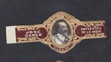 Ancienne  Bague de Cigare Jose Gener BN77475 Cuba Empereur D'inde