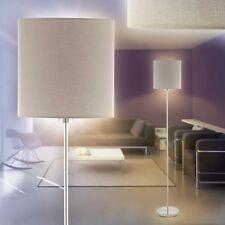 Stehlampe Flur Stand Boden Lampen Steh Leuchten Schlaf Wohn Zimmer Stoff taupe