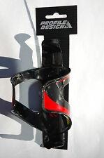 Profile Design Carbon Fiber Kk1-5 Black Red Bottle Cage Bike Bicycle New!