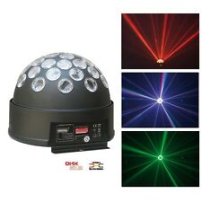 JEU DE LUMIERE MULTICOLORE PROJECTEUR A EFFETS LED DMX 6 CANAUX LED MAGIC BALL