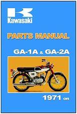 KAWASAKI Parts Manual GA1 GA-1A & GA2 GA-2A 90-SS 90SS 1971 1972 on Spares List