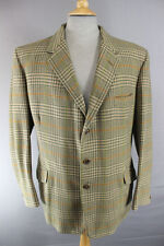 SUPERB BLADEN SUPASAX PURE WOOL TAILORED CHECKED TWEED JACKET 42 INCH