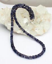 IOLITA ( AGUA Zafiro) Collar De Piedras Preciosas Facetadas azul 45cm Hermoso
