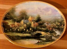 New Limited Edition Thomas Kinkade Plate Lamplight County - In Mint Condition
