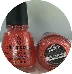 China Glaze Nail Polish * MANGO MADNESS * 808 #80401 * Glitter Specialty Lacquer