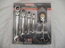 PowerFix Flexible Head Ratchet 5 Piece Ring Spanner Set  8,10,13,14,17mm BNIP