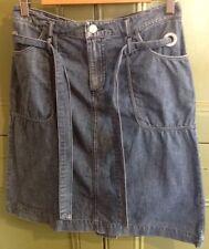 "Henri Lloyd 30"" W  Size 2 Distressed Denim Skirt Short Casual Autumn Winter"