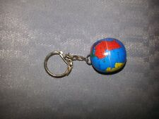 "Vintage 1980's Metal Globe Key Chain 1""  World Traveler ** OR buy  2 for 14.99*"