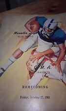 1961 Marietta High School Football Program Georgia VTG