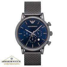 Original EMPORIO ARMANI AR1979 Herren Uhr Meshband aus Edelstahl - NEU&OVP