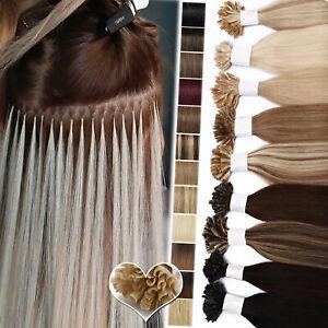Brazilian Remy Human Hair Extensions Nail U Tip Pre Bonded Keratin Blonde 0.5G/S