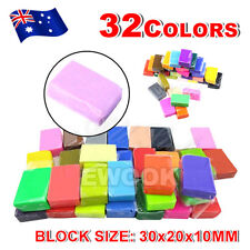 32 Color Oven Bake Polymer Clay Modelling Moulding Sculpey Fimo Block DIY Toys