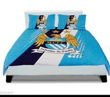Manchester City FC 'Stripe' Double Bedding Duvet Cover New 100% Official Man