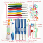 Knitting Tools Crochet Needle Hook Accessories Supplies With Case Knit Kit New