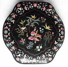 Vintage biscuit tin Chocolate box Oriental style birds flowers Scribbans Kemp