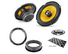 "VW Golf Mk4 R32 6.5"" Front door speaker upgrade kit from JL Audio Dynamat"