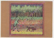 CP ART TABLEAU LES CHASSES A CHANTILLY Départ en forêt  Departure for the forest