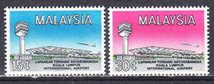 MALAYSIA 1965 INTERNATIONAL AIRPORT SCOTT 18-19 MNH