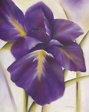 Caroline poca : Morado Flor I Imagen TERMINADA 50x70 Cuadro de pared con flores