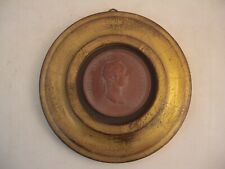 Louis XV Bust Medallion Gold Gilt Wood Frame French Italian Style