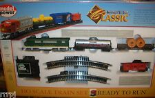 HO TRAINS CLASSIC TRAIN SET SOUTHERN  WITH TRACK & POWER PACK  #1028 S W/FLAT