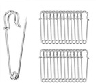 """ReachTop Pack of 30 Large Safety Pins, 2.76"""" Heavy Duty Blanket Pins Bulk Steel"""