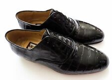 $5800 ARTIOLI Black Crocodile Leather Oxford Shoes 11.5 US 44.5 Euro 10.5 UK