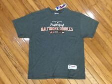 NWT Majestic Baltimore Orioles Men's Gray T-shirt Tee Size XL