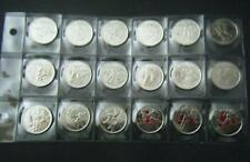 2007 2008 2009 2010 Canada Vancouver Olympic 18 coin set Quarter 25 cent 25c
