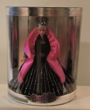 1998 Happy Holidays Special Edition Barbie Black Dress Pink Wraparound and Tiara