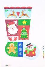 "Needlepoint Handpainted LEE Christmas STOCKING Sampler 1  23"""
