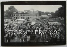 Maine Central Railroad 470 Engine Waterville ME Train Station 1954 contact photo