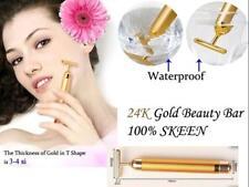 24k Beauty Energy Gold Bar Face Roller Massage Vibration Anti Ageing Wrinkle