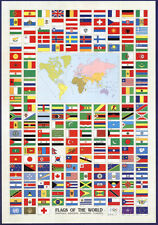 Flags of the World Poster Print, 27x39 World Map