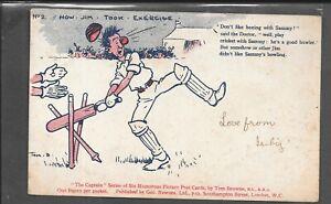 GB POSTCARD TOM BROWN CRICKET - POSTED DULVERTON 1904