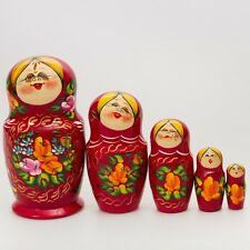 Russian Doll Matryoshka Nesting Doll Hand Made Hand Painted in Russia 6.7''