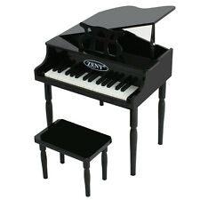 Kids 30 Key Baby Grand Piano with Bench - Black