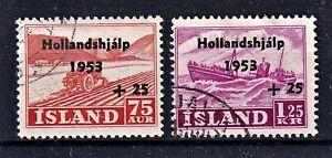 Island - MiNr 285-286 - mit Aufdruck - komplett