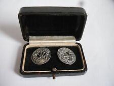 More details for 2 antique art nouveau sterling silver buttons