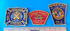 LOT OF THREE FIRE DEPARTMENT PATCHES!