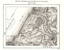 Bayonne and the Mouth of the Adour. Pyrénées-Atlantiques. Sketch map 1885