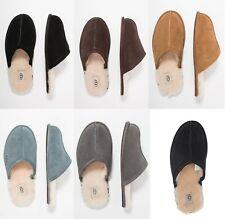 Marca UGG autênticos sapatos masculinos chinelos de desgaste de pele de carneiro 5776 Novo Marrom Castanha