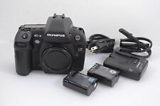 EXCELLENT+ OLYMPUS EVOLT E-3 4/3 BUNDLE, 2BATTS, EYEPIECE, CAP, 74K ACTS, TESTED
