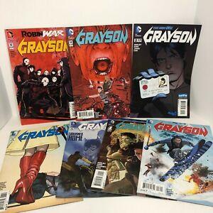 Grayson Lot Of 7 Comics - DC Comics - New 52 - Annual Mixed Lot Graphic Comics