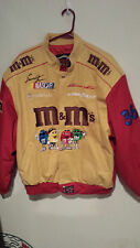 NASCAR Ernie Irvan Team M & M's Embroidered Jacket  Large Autographed Excellent