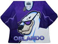 Bauer Orlando Solar Bears Hockey Jersey 1990s IHL Purple Alternate ~ New