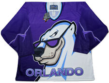 Bauer Orlando Solar Bears Hockey Jersey 1990s IHL Purple Alternate ~ New