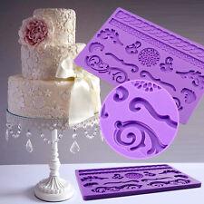 Non-stick Cake Fondant Lace Pan Mat Silicone Mold Cake Decorating Supplies Tool