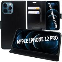 """Etui Schutzhülle Portemonnaie Leder Stoßfest Für Apple IPHONE 12 Pro 6.1 """" A2407"""